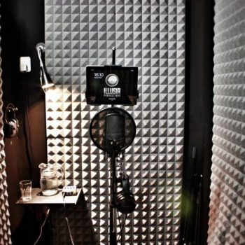 Vocal booth ready for voice-overs